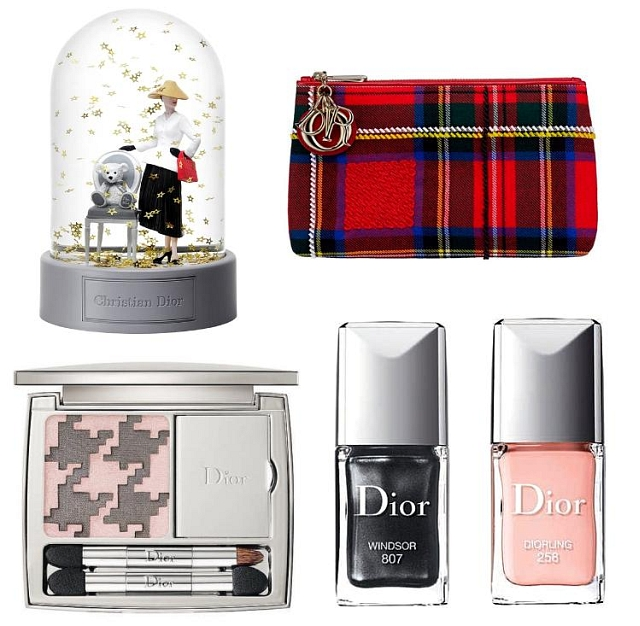 Lady Dior Pouch in Embroidered Red Tartan 0727d54a878d6