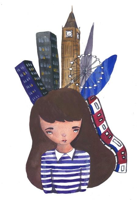small girl big town